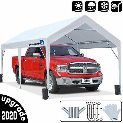 Peaktop Outdoor Heavy Duty 10X20 Storage Shed Carport Car Sh