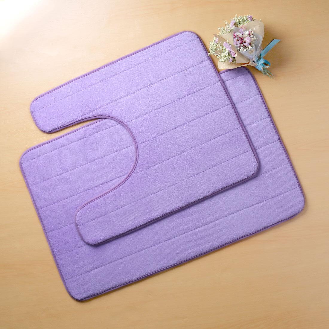 1 2pcs Non Slip Bathroom Rug Mat Memory Foam Contour Floor Rug