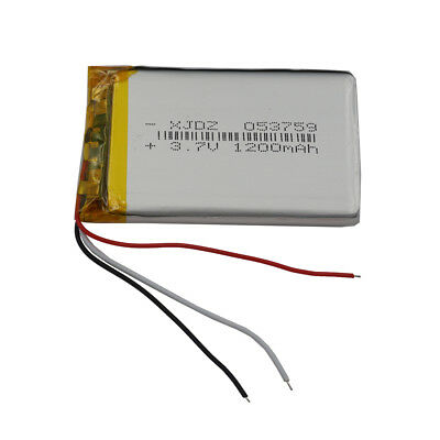 1200mah Li Ion Polymer Battery - 3.7V 1200 mAh 3 wires thermistor Polymer Li ion battery 053759 for Tablet PC GPS