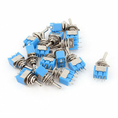 15 Pcs Spdt On-on 2 Positions 3 Pin Latching Micro Toggle Switch Ac 125v 6a