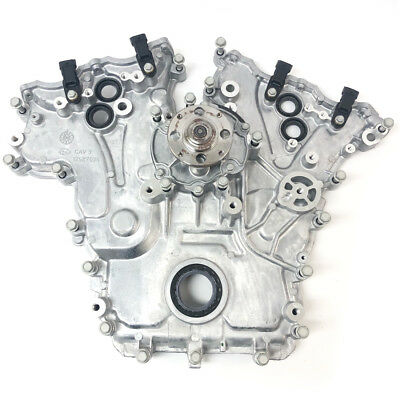 New 3.6L Timing Cover+Water Pump Assembly 04-06 Cadillac CTS, SRX, STS 12598349