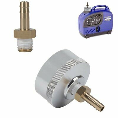 Extended Run Gas Cap Adapter With Brass Hose For Yamaha Ef2000is1000issilver