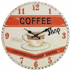 Wall Clock 13 Paris Cafe Coffee Shop Vintage Style Shabby Chic Farmhouse