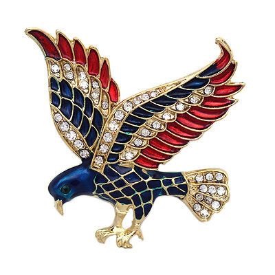 4th of July USA American Flag Patriotic Spirit Eagle Brooch Pin Jewelry Gift](Patriotic Jewelry)