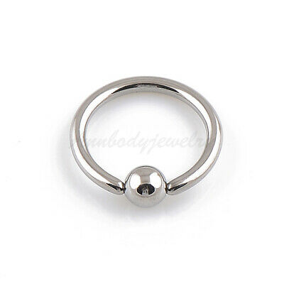 18G 16G 14G Solid Titanium Ball Closure BCR Captive Bead Ring Ear Daith Nose 14g Captive Bead Ring