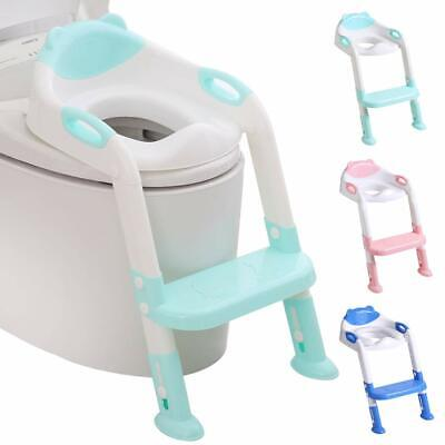 Potty Training Seat Toddler Toilet Seat with Step Stool Ladder,Potty Training To