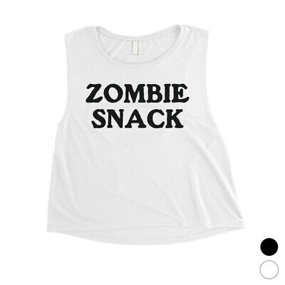 Zombie Halloween Snacks (365 Printing Zombie Snack Womens Hysterical Cool Halloween Costume Crop Top)