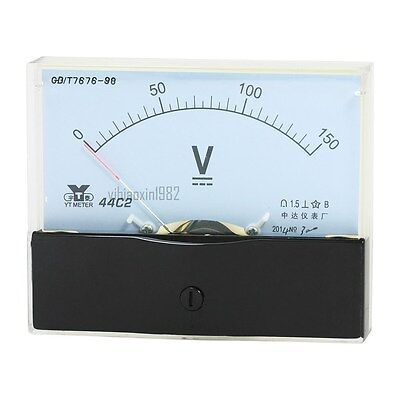 1pcs Analog Panel Voltmeter Volt Meter Dc 0-150v Measuring Range 44c2 Class 1.5