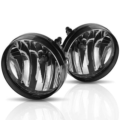 for 2007-2013 GMC Sierra 1500 2500 HD Smoke Bumper Fog Light Lamps w/ Bulbs PAIR ()