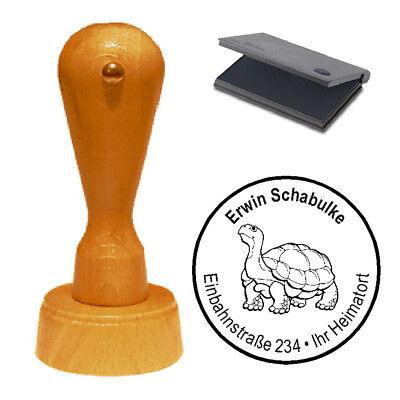 Stempel « Schildkröte 02 » Adressenstempel Motivstempel Holzstempel