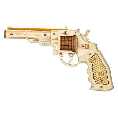 Gummiband-Revolver Holzbausatz NEU&OVP