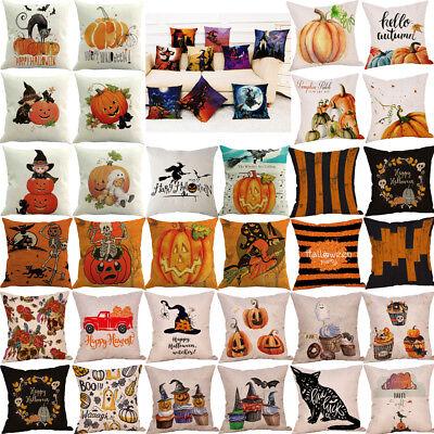 US Halloween Ghost Pillow Case Sofa Waist Throw Cushion Pillow Cover Home Decor  ()
