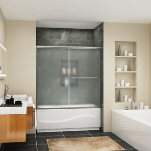 SUNNY SHOWER Sliding Shower Bypass Tub Door 60