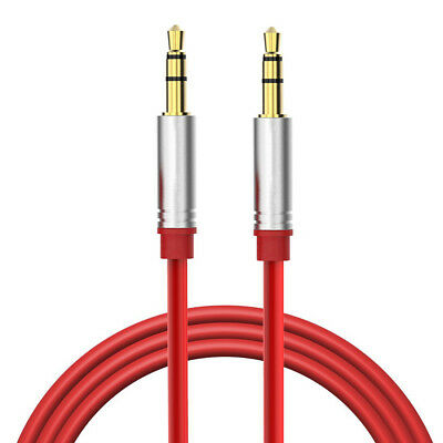 Red 3.5mm Audio Aux-in Cable Cord For Anker Soundcore Portab