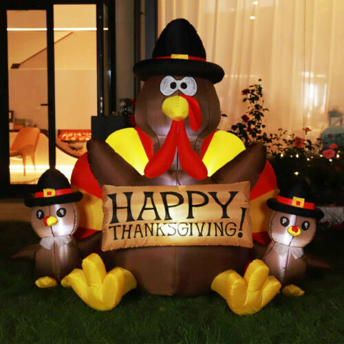 VIVOHOME 6.2'x6' Inflatable Turkey Thanksgiving Outdoor Yard