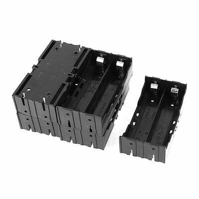 5 Pcs Plastic 2 x 3.7V 18650 Batteries 4 Pin Battery Holder Case LW