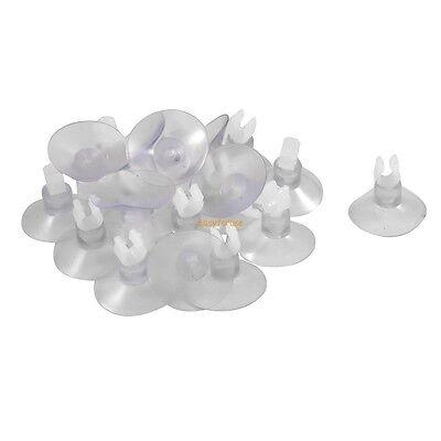 12 pcs Clear Suction Cup Clip Holders for Aquarium Air line Tubing 1/4