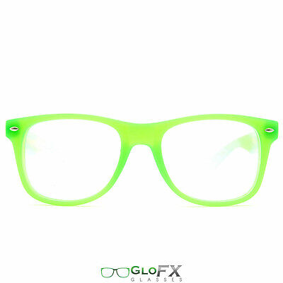 GloFX Ultimate Diffraction Glasses – GLOW In The Dark Green Frame Best (The Best Mens Sunglasses)
