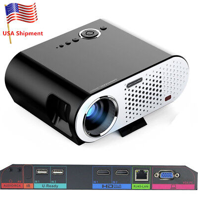 GP90 UP 1080P WIFI Projector HD Office Home Cinema Theater HDMI Bluetooth