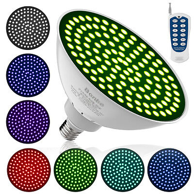120V 35W 7 Colors Changing Swimming Pool LED Light Bulb with Remote Control #s