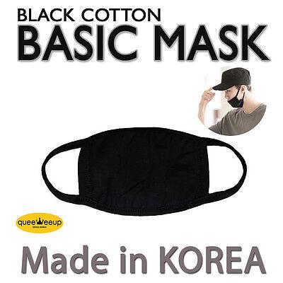 Made in Korea Kpop Idols BigBang EXO BTS  Basic Black Cotton Face Mouth Mask