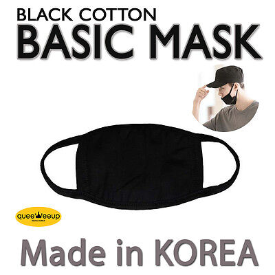 Made in Korea Unisex Kpop Idols BigBang EXO  Basic Black Cotton Face Mouth Mask