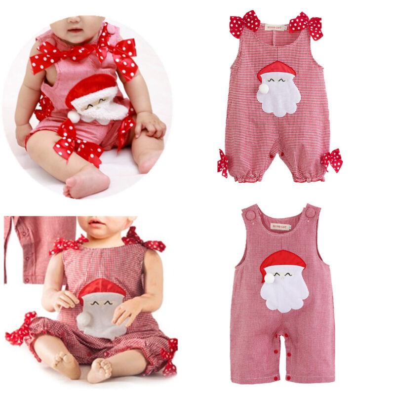 b9018bcdeffe4 Newborn Baby Girl Boy Xmas Santa Romper Outfits Costume Fancy Dress ...