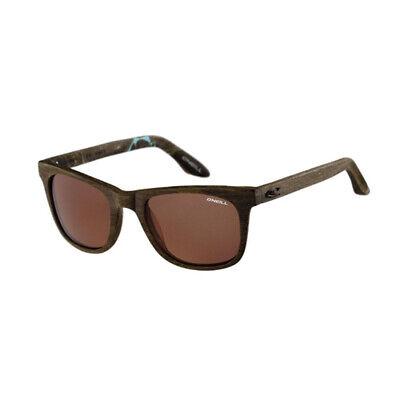 O'Neill SHAKA RX 103 Matte Aqua Fleck Brown Polarized Sunglasses Wood Look (Oneill Sunglasses)