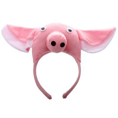 3D Schwein Kopfband Tier Bauernhof Erwachsene Kinder Maske Kostuem Maskenball - Maskenball Kostüm Kinder