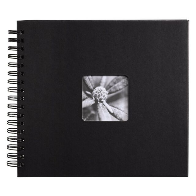 Hama Fine Art Spiral Traditional Album 28 x 24/ 50 cm in Black (UK Stock) BNIB
