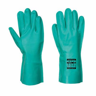 Portwest Nitrosafe Chemical Gauntlet Safety Protective Gloves Resistant A810