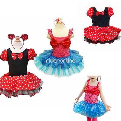 Mädchen Süß Mouse Kostüm Kinder Ballett Tanz Tutu Tüllrock Kleid mit - Süße Sport Kostüm