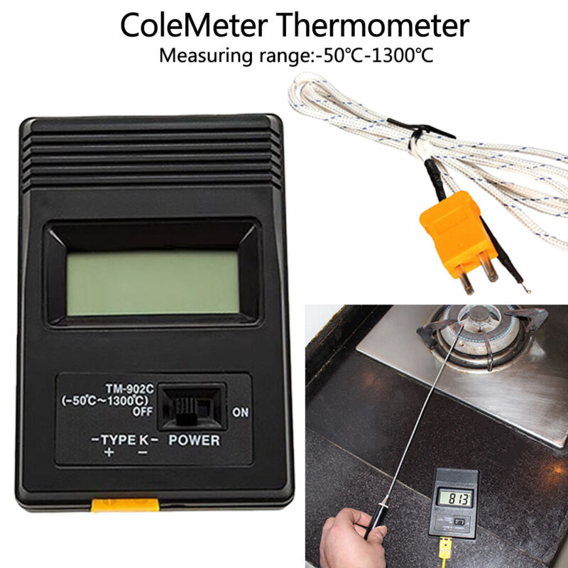 TM-902C Digital LCD Thermometer Temperature Reader Meter Sensor K Type Probe USA
