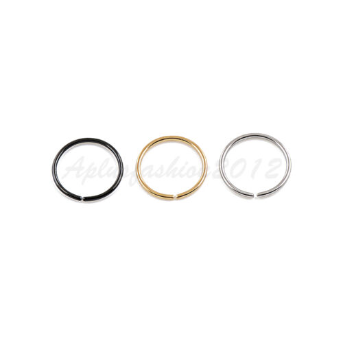 18G 20G 22G all size Color Plated on Steel Seamless Nose Hoop Ear Tragus Ring