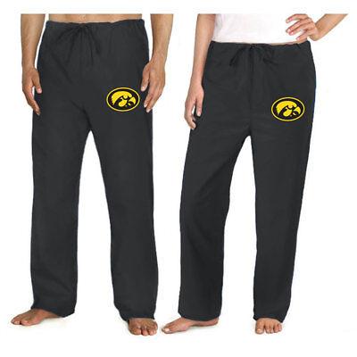 University of Iowa SCRUBS Iowa Hawkeyes BOTTOMS Scrub Pants - GREAT For RELAXING