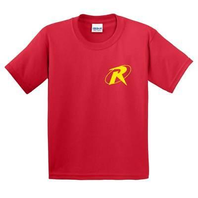 KIDS Robin (Batman's Sidekick) T shirt Logo Comic Superhero Mens Childrens Gift](Kids Robin Shirt)