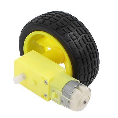 4pcs Smart Car Robot Plastic Tire Wheel With Dc 3-6v Gear Motor Z3