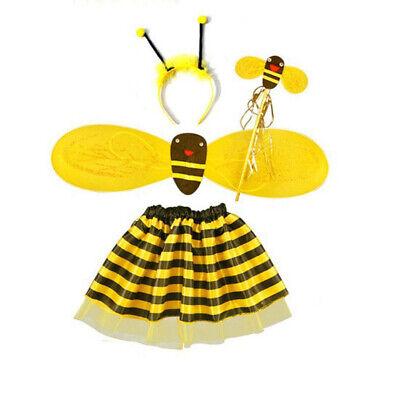 Honey Bee Kids Girl Dress Costume Set Fancy Halloween Party Outfit Children Wear