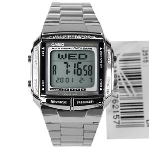 NEW-CASIO-UNISEX-RETRO-DIGITAL-DATA-BANK-WATCH-DB360-SILVER-1A-RRP-50