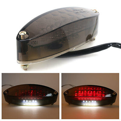 - Rear Tail Motorcycle Integrated Light Black Smoke Lens LED Universal fit 12V