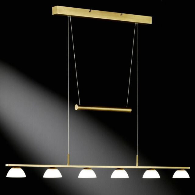 LED Pendelleuchte Honsel Vigo 65056 Pendellampe Altmessing 115cm