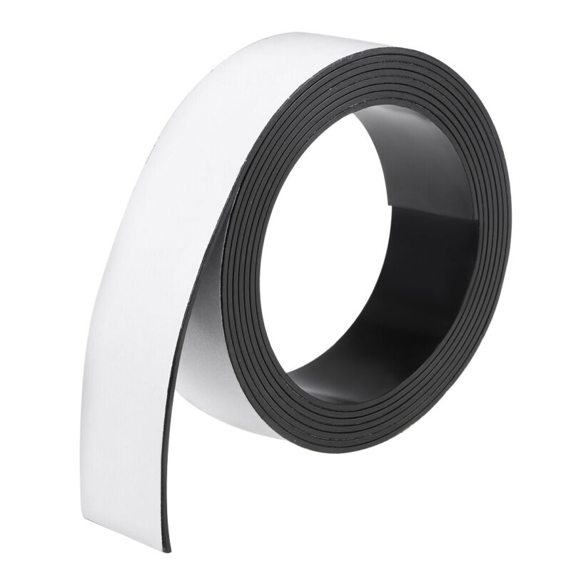 Dry Erase  Magnetic Strip 1 3/16 Inch x 6.5 Feet Magnetic Tape Labels