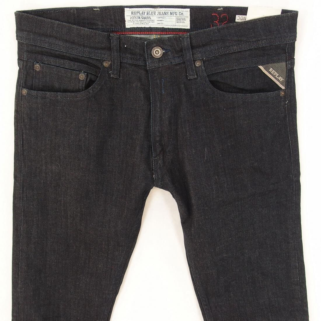big sale 849c3 abf4a Details about NEW Mens Replay MA931 JONDRILL Stretch Skinny Blue Jeans W32  L34 BNWT