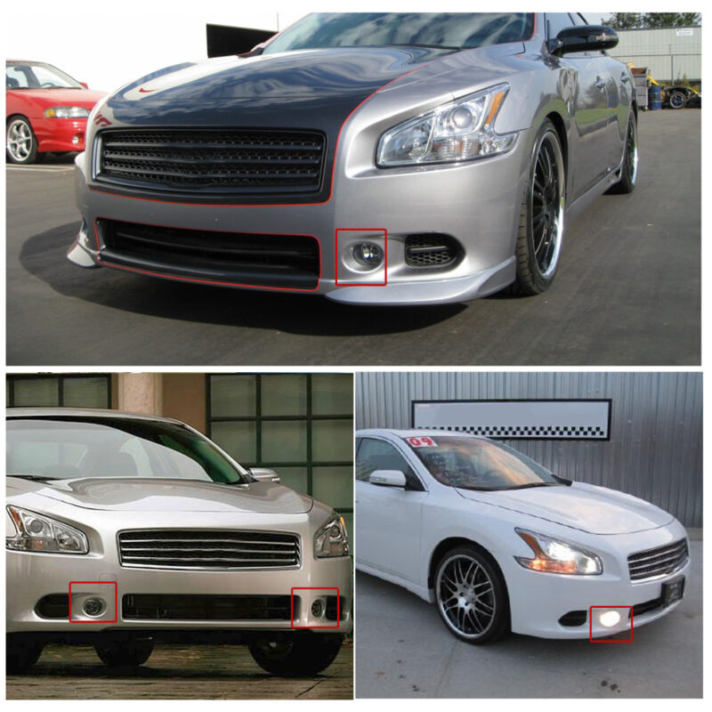 2009 Nissan Maxima Exterior: For 2009-2014 Nissan Maxima Clear Fog Light Front Bumper
