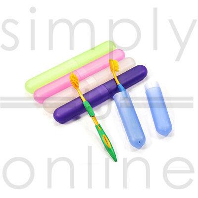 soporte para cepillos de dientes estuche de plástico para acampar