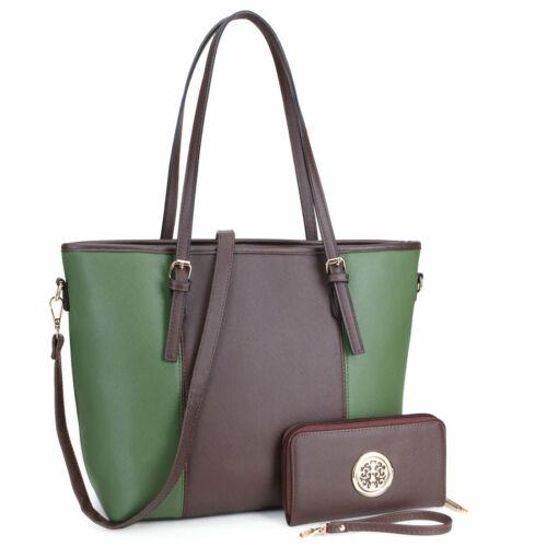 Dasein Women Handbags Faux Leather Tote Bags Shoulder Bags L