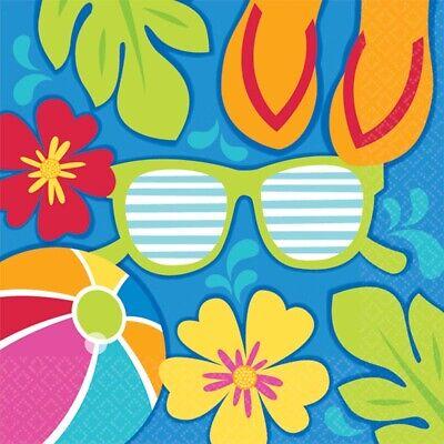 Summer Splash Themed Pool Party 36 Paper Beverage Napkins