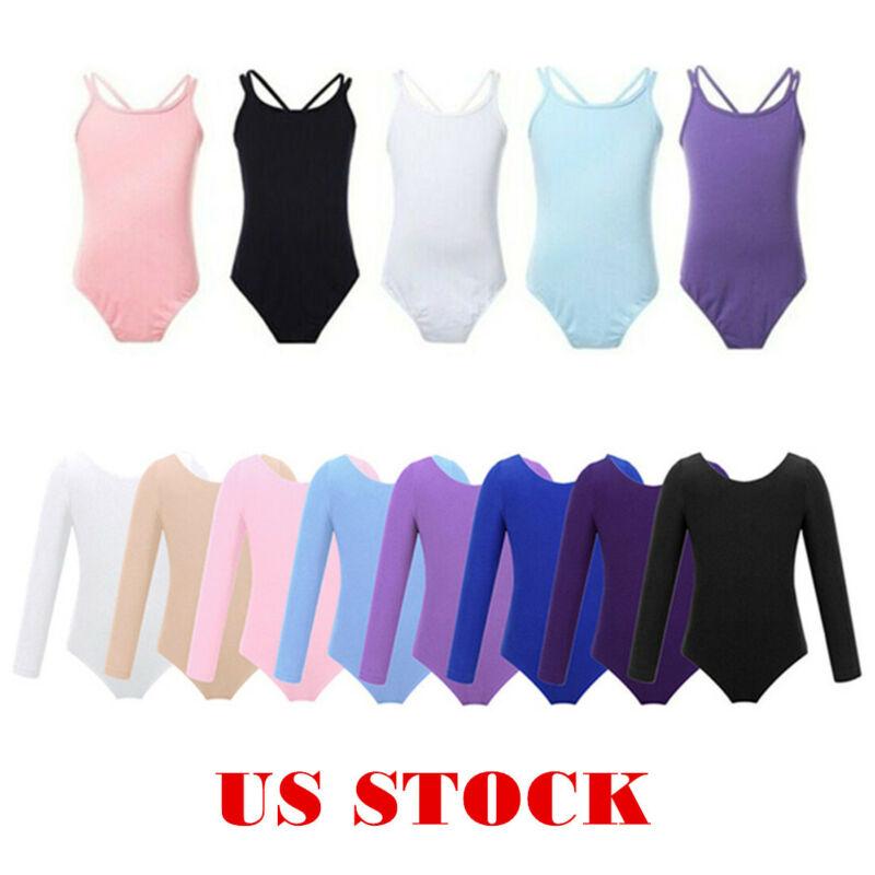 gWINNER Girls Gymnastics Ballet Dance Sport Cotton Bodysuit Leotard 3//4 Length Sleeve