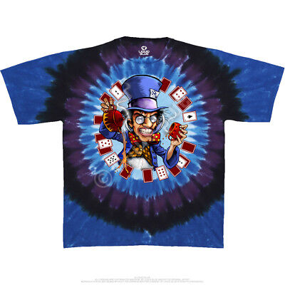 MAD HATTER-Cheshire Cat-2 Sd TIE DYE SHIRT M-L-XL-XXL,3X-4X-5X-6X Alice - Mad Hatter Cheshire Cat