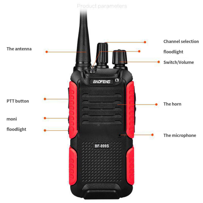 Baofeng BF-999S 999S Walkie Talkie 8W 4200mAh Long Distance Portable 2 Way Radio